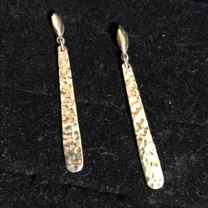 Sterling post dangle earrings
